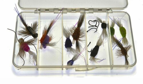 Selection of small wake flies for Steelhead and Salmon