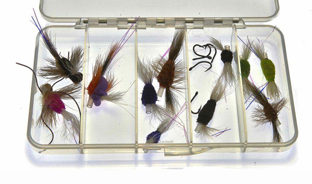 Selection of small wake flies for Steelhead and Salmon