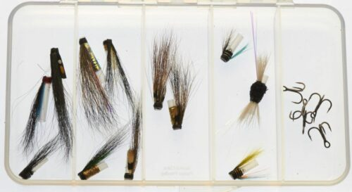 Selection of Riffling Hitch - Micro tube flies - treble hook version
