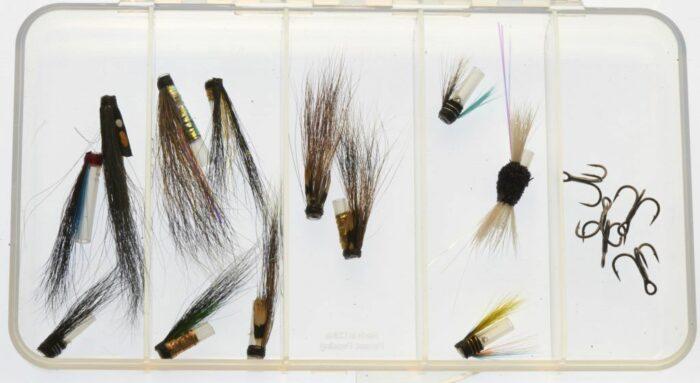 Selection of Riffling Hitch - Micro tube flies - treble hook version