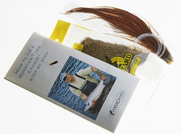 Kit for tying Monster Tube Caddis