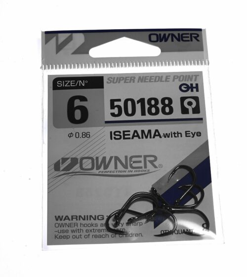 Owner Iseama 50188 Single Tube Fly Hook # 6