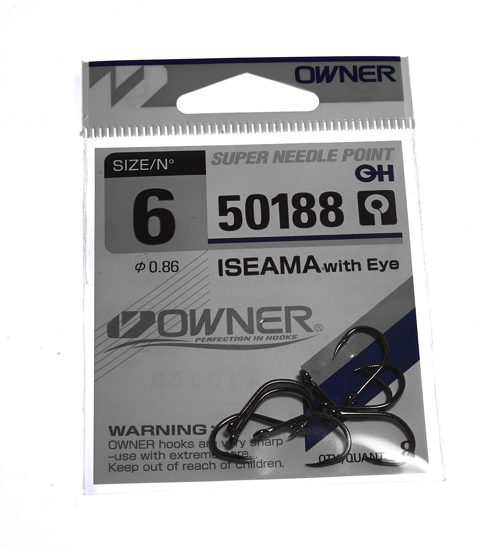 Owner Iseama 50188 Single Tube Fly Hook # 6