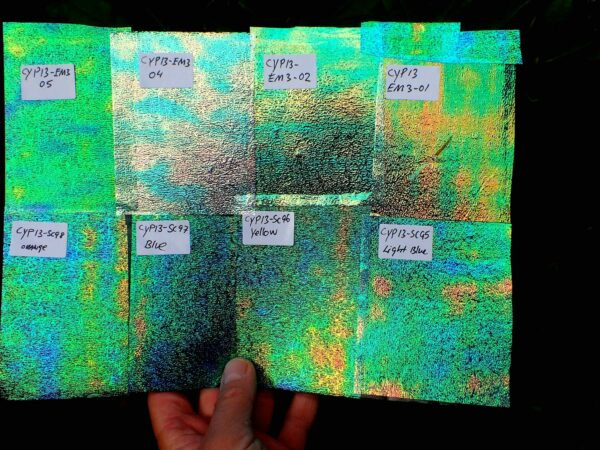 iridescent foam production
