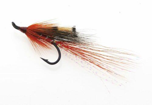 Orange Ally's shrimp Single Hook Riffling Hitch Version