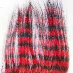 Sunray Zebra Goat Hair Black & Red
