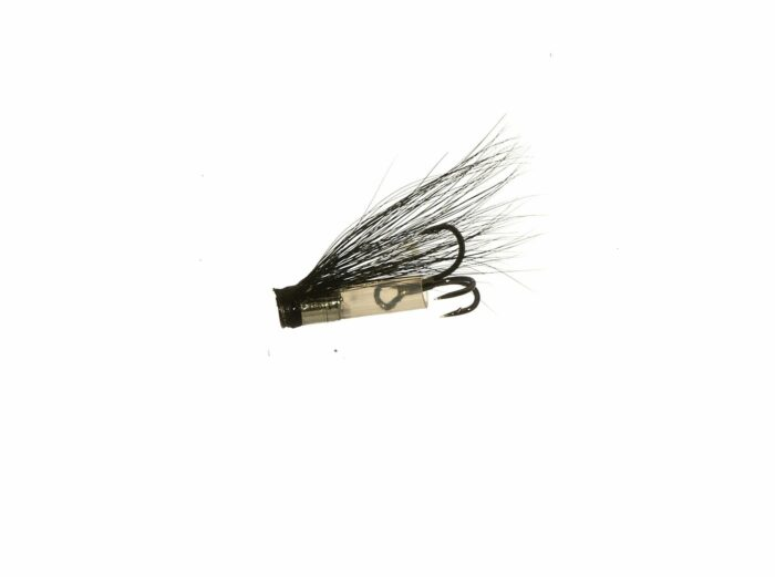 Micro Riffling Hitch V-Fly - Silver Stoat tail
