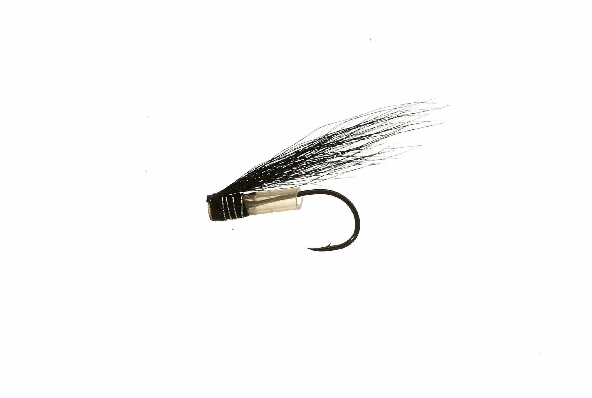 Micro V-Fly - Black - Stoat tail