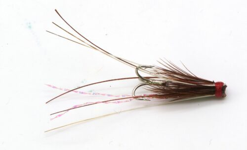 Icelandic Micro Hitch Fly Red Frances IH1007