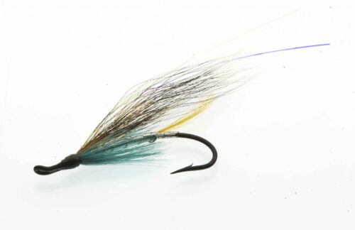 Feather Salmon Fly Blue Charm Undertaker Classic fly double hook Size #4