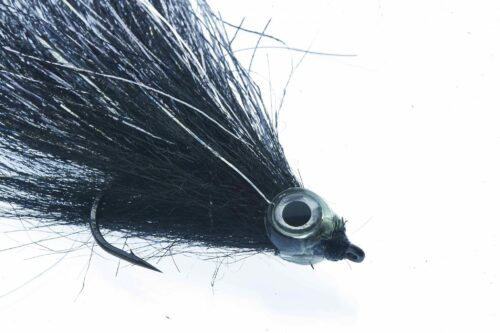 Fishmadman Pike Fly single hook Black and silver