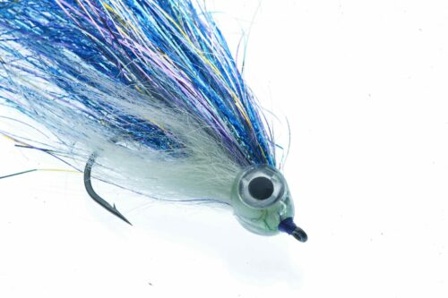 Fishmadman Pike Fly single hook Blue and Silver