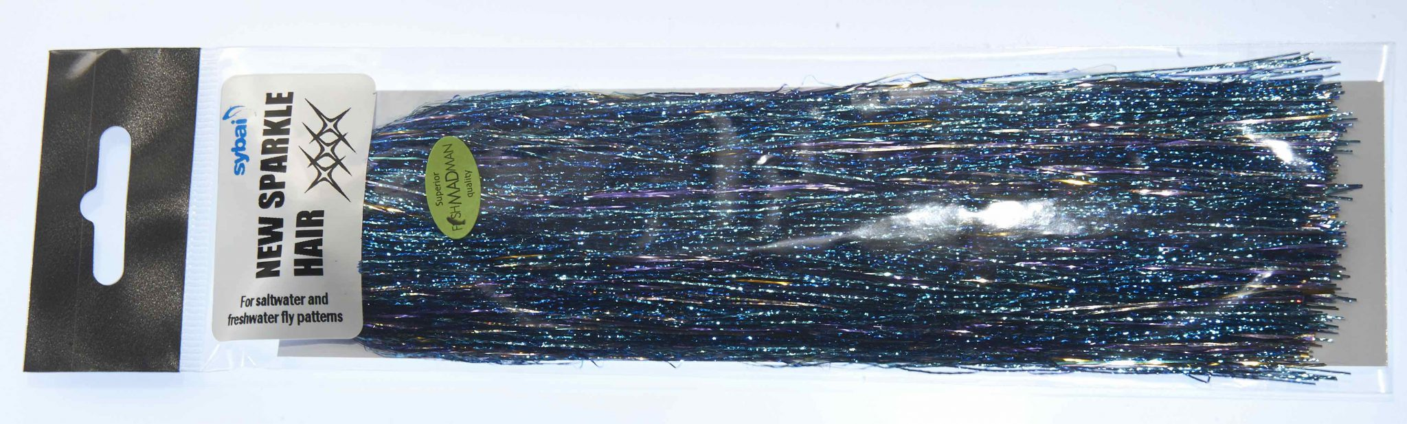Pike fly tying tinsel blue and silver