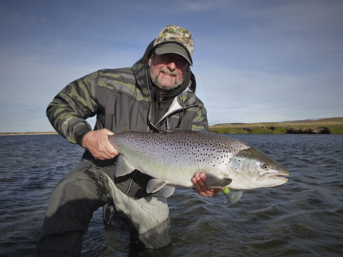 sea trout on wake fly