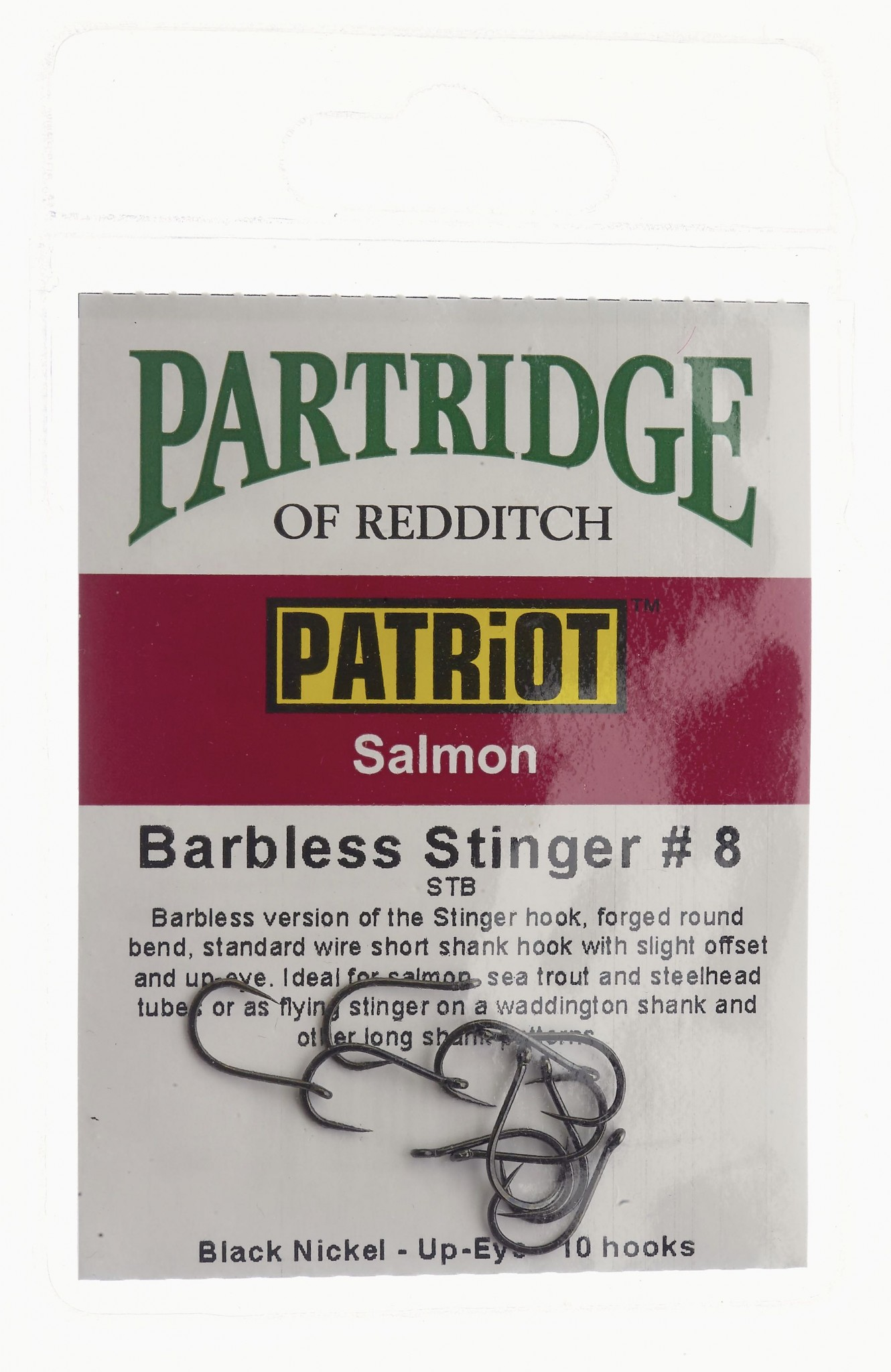 Patriot Barbless Stinger # 8 Partridge