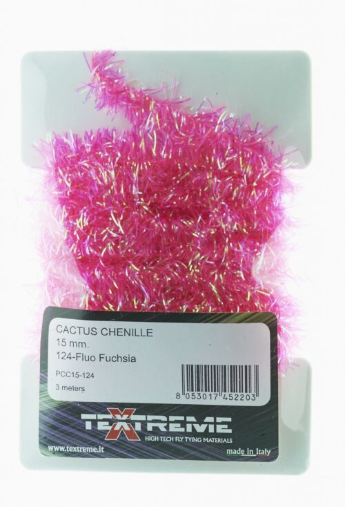 Sea trout fly tying Cactus Chenille 15 mm. Fluo Fuchsia