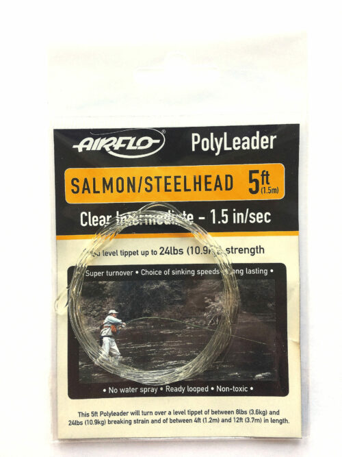 Airflo polyleader Salmon steelhead 5 ft clear intermidiate 1