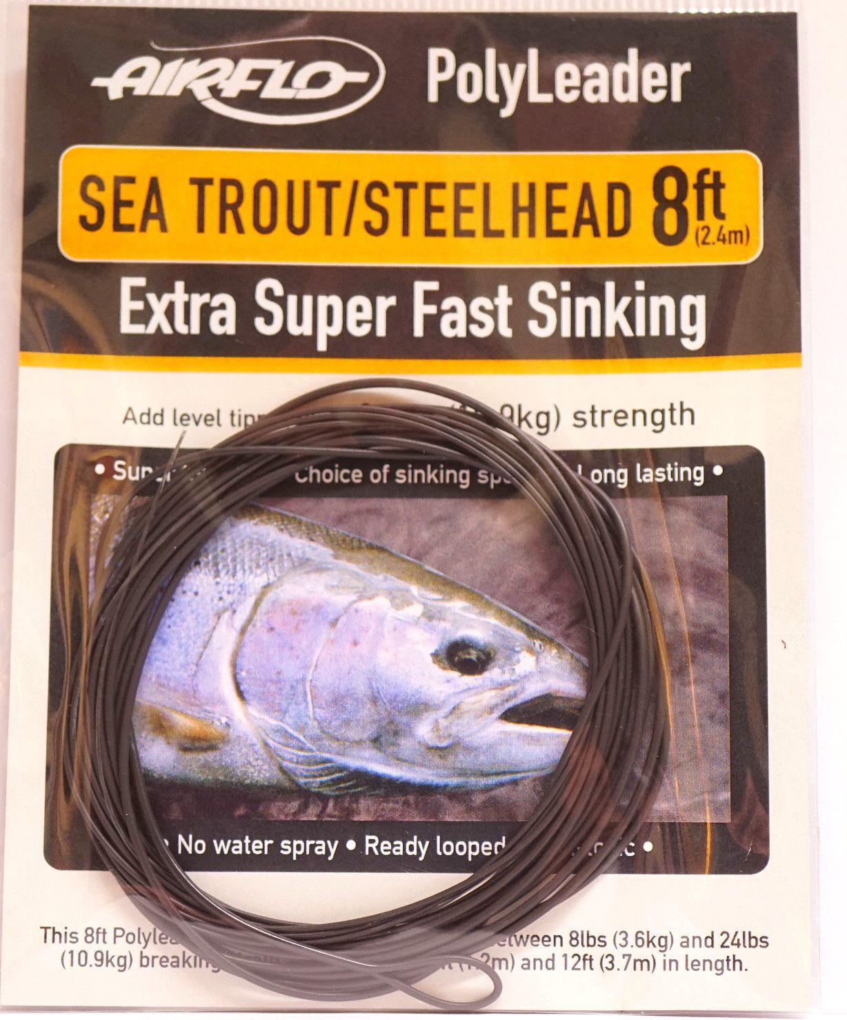 Airflo polyleader Sea Trout Steelhead Ex.Super Fast Sinking 8 ft