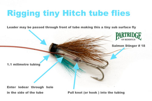 Micro tube flies and other such flies for finicky fish