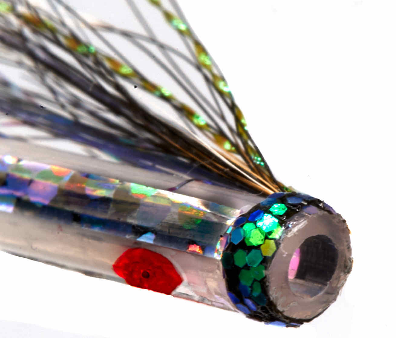 iridescent material fly fishing