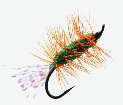 Glitter Bug Green and Orange # 10