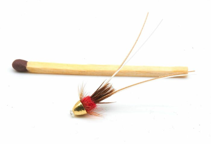 Frances Tungsten Conehead Tube fly - Red 10mm