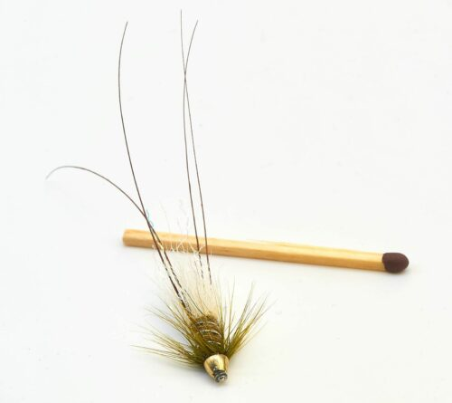 Frances Micro conehead Tube Fly - Olive 1/2