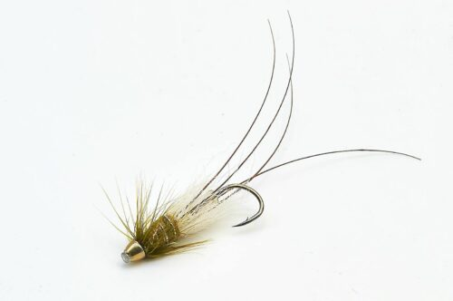 Frances Micro conehead Tube Fly - Olive 1/2""