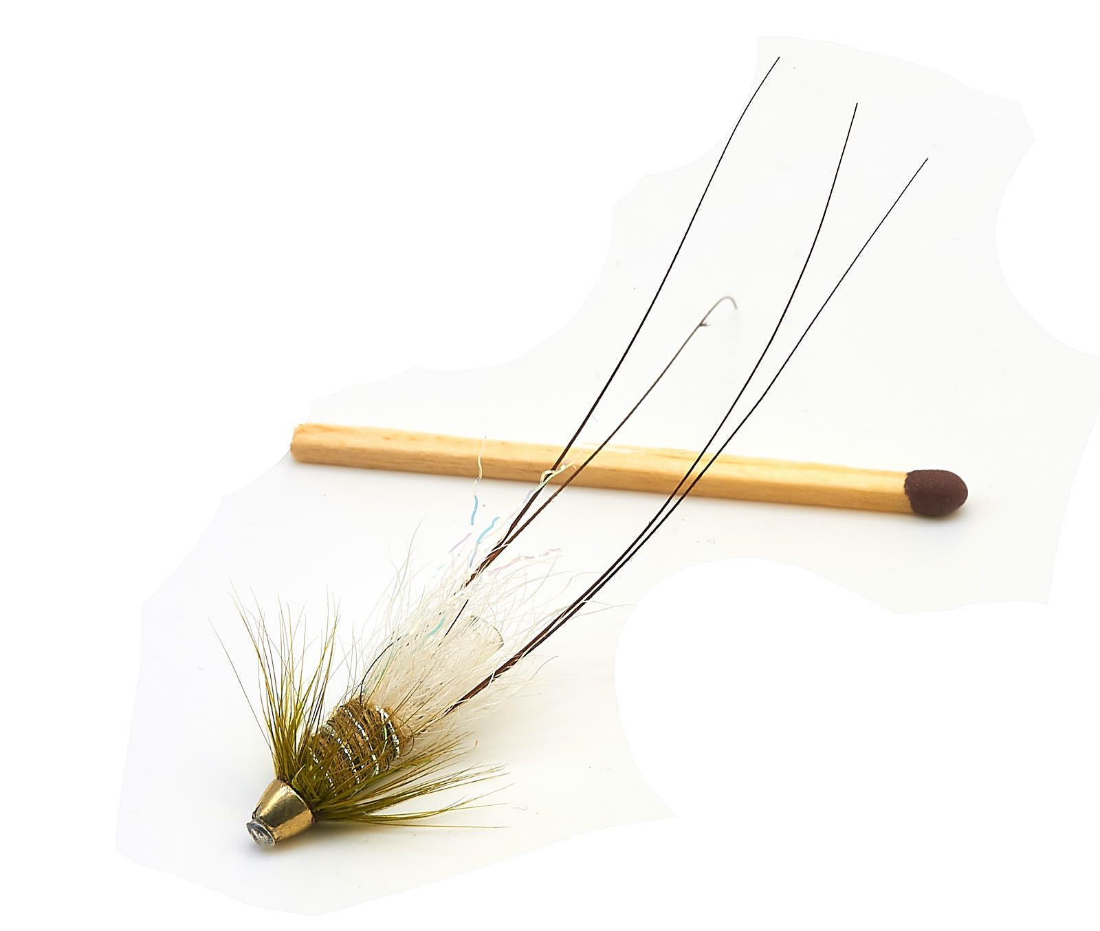 """Frances Micro conehead Tube Fly - Olive 1/2"""""""