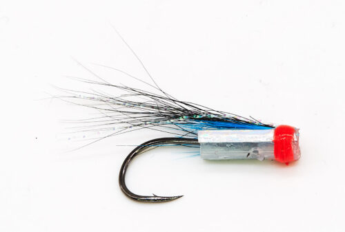 Micro Icelandic Hitch Fly - Haugur Silver Holo