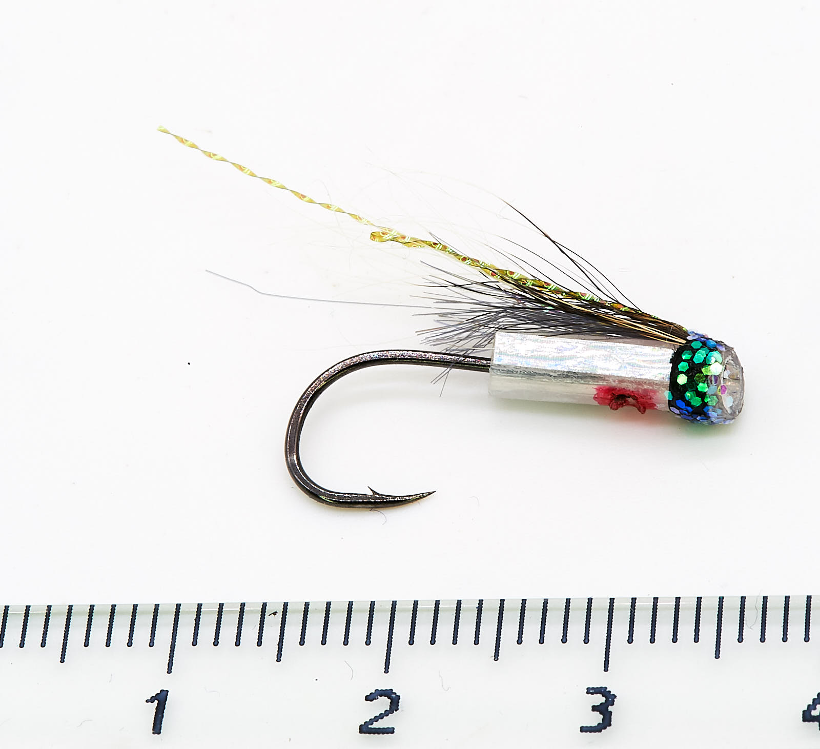 Hitchman Silver Riffling hitch tube fly