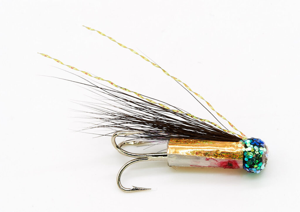Hitchman - Black and Gold riffling hitch tube fly